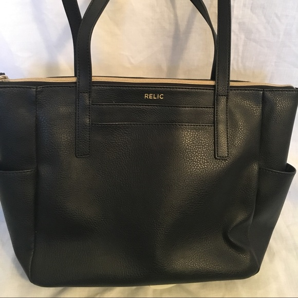 Fossil Handbags - Like new Fossil Relic black faux leather bag